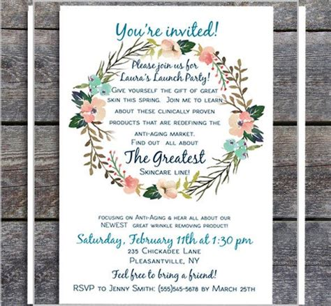 Launch invitation card sample Party Invitations Great