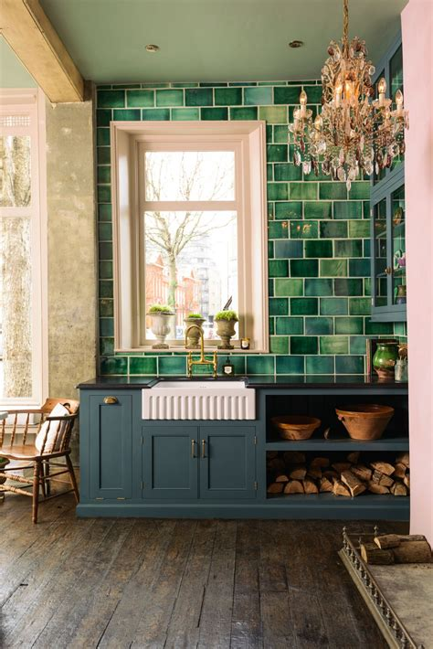 green and pink kitchen a pink green kitchen greyish blue green 3959