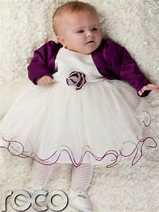Baby Girls Purple Ivory Dress Bolero Jacket Wedding Babys Bridesmaid Dresses | eBay