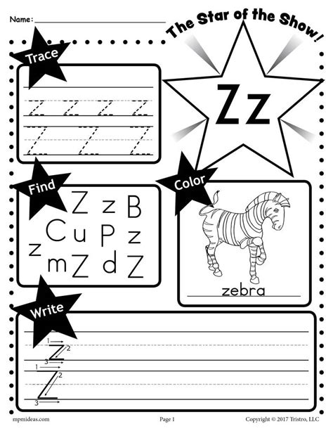 free letter z worksheet tracing coloring writing more supplyme