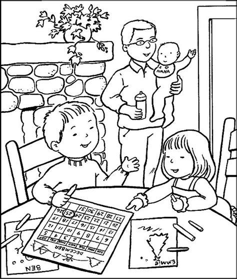 famiglia disegni  bambini da colorare