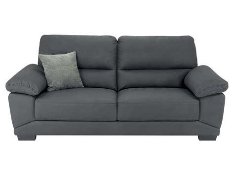 canapé gris conforama canapé fixe 3 places en tissu milan coloris gris vente