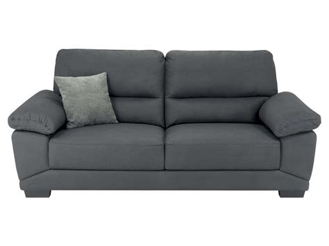 conforama canapes canapé fixe 3 places en tissu milan coloris gris vente