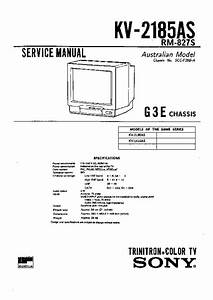 Sony Kv-2185as Service Manual