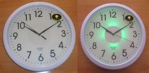 luminous clock light sensor wall clock in luminous clock