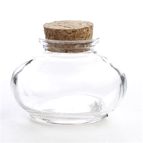 Round Clear Glass Apothecary Bottle   Kitchen and Bath