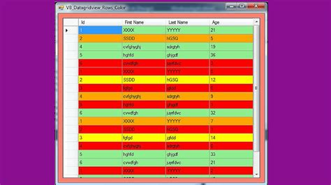 vb colors vb net how to change a datagridview row color in vb c