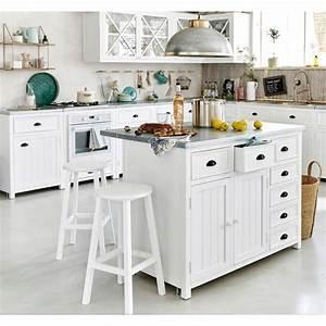 Cuisine Maison Du Monde : lot central en pin recycl copenhague meuble de cuisine maisons du monde ~ Teatrodelosmanantiales.com Idées de Décoration