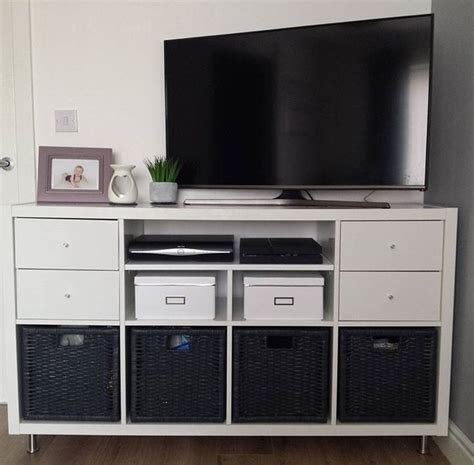 Ikea Kallax Tv by Tv Stand Hack Using The Ikea Kallax System Adding New