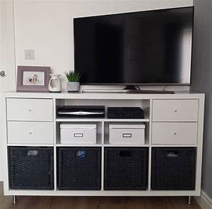 Tv Board Ikea : tv stand hack using the ikea kallax system adding new ~ Lizthompson.info Haus und Dekorationen