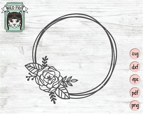Free circle of trust svg file. Wreath SVG file Flower Wreath svg circle wreath clip art ...