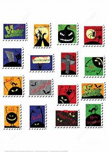 printable halloween postage stamps stickers or lables With free postage stickers