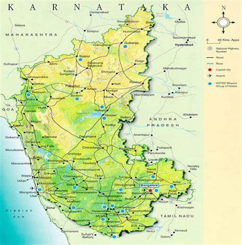 tourist map  karnataka map  karnataka state