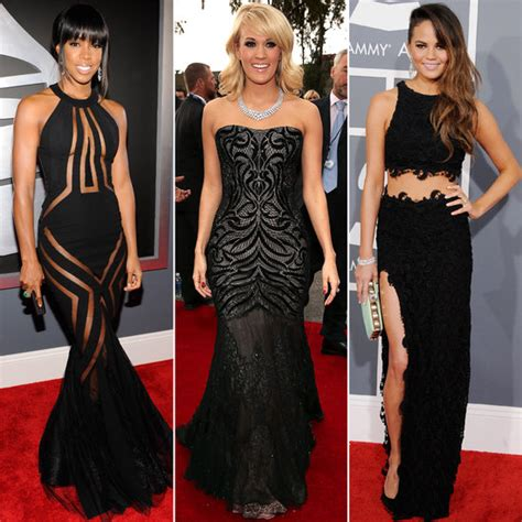 Grammy 2013 Redcarpet Black Dresses  Popsugar Fashion