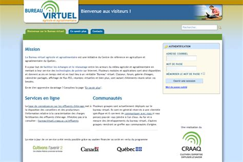 csaffluents qc ca bureau virtuel bureau virtuel agroalimentaire