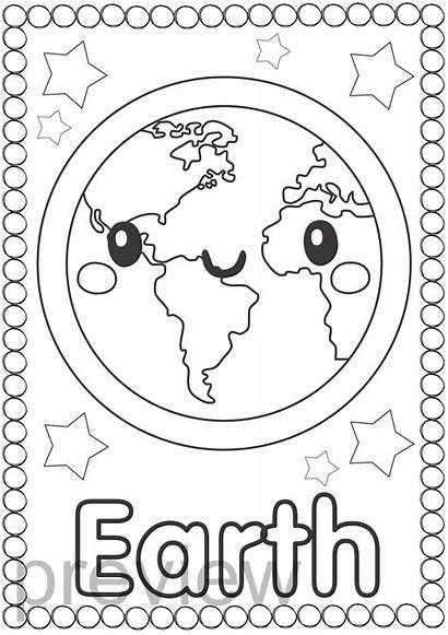 Coloring Space Theme Different System Solar Teacherspayteachers