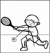 Tennis Coloring Pages Playing Printable Colouring Sports Hitting Ball Sheets Worksheets Sneakers sketch template