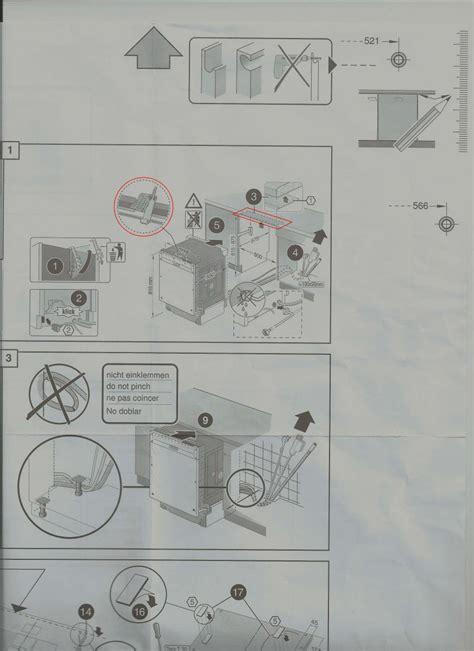 notice d installation de lave vaisselle bosh moi pas tout
