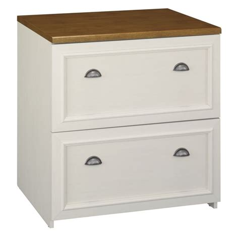 White Wooden File Cabinets by Bush Fairview 2 Drawer Lateral Wood File White Filing