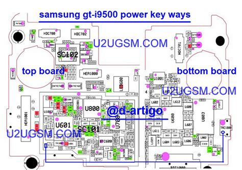samsung i9500 galaxy s4 power on key button switch jumper ways