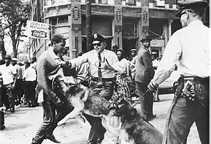 Image result for image civil rights marchers dogs water cannons sixties