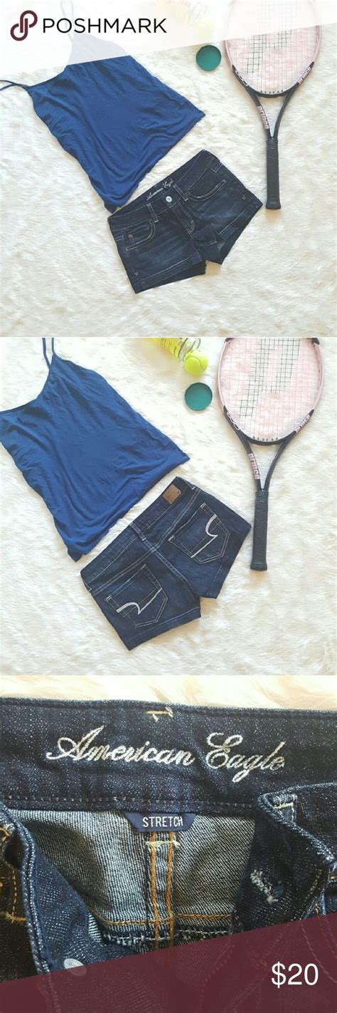 American Eagle Outfitters Denim Shortie Shorts | My Posh ...
