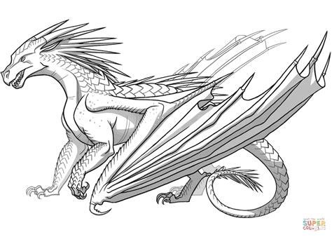Useful drawing references and sketches for beginner artists. Icewing Dragon from Wings of Fire coloring page | Free ...
