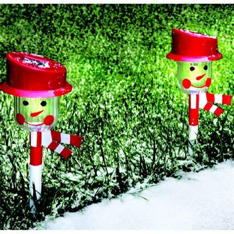 christmas solar walkway lights snowman pathway lights lookup beforebuying