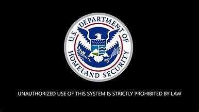 Security Homeland Department Desktop Screen Saver Banner