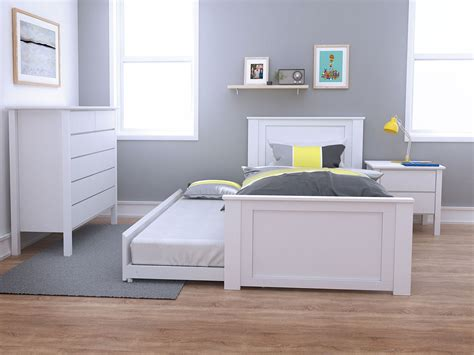 33874 size bed with trundle single trundle bed white modern b2c furniture