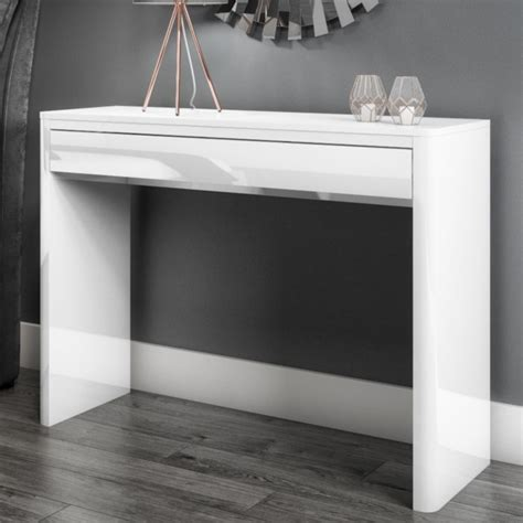 lexi white high gloss console table furniture