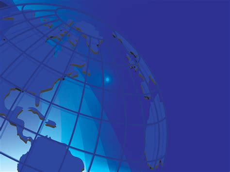 World Background Blue World Powerpoint Templates Abstract Blue Business
