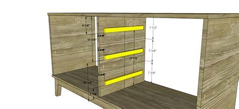 dresser valet woodworking plans free diy furniture plans how to build a steppe 6 drawer