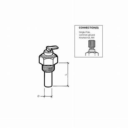 Vdo Temperature Coolant Sender Engine Range 120c