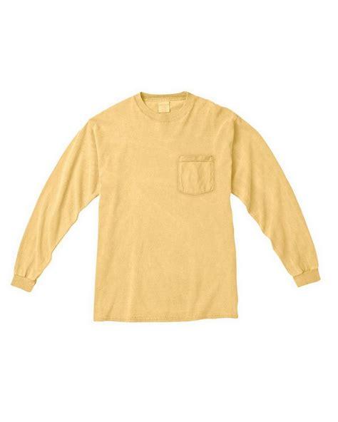 comfort colors butter comfort colors c4410 sleeve pocket t shirt