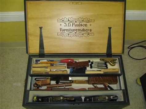 carved windsor chairmakers tool chest  rev jim
