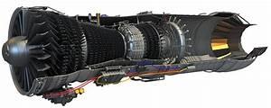Pratt  U0026 Whitney F100 Turbofan Engine Cutaway Drawing In