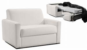fauteuil convertible 1 place cuir dream par verysofa promo With canape lit 1 place convertible