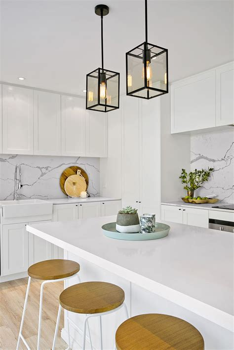 white kitchen pendant lighting 21 gorgeous pendant lights an island bench a house 1395