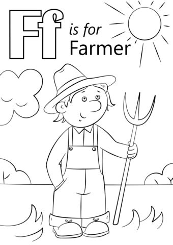 letter    farmer coloring page  letter  category select   printable crafts