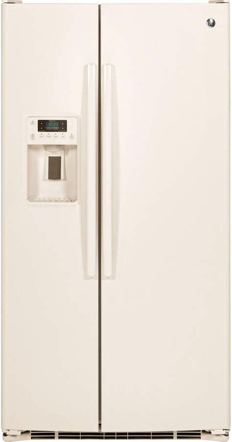 ge  cu ft side  side refrigerator bisque gsegghcc dick van dyke appliance world