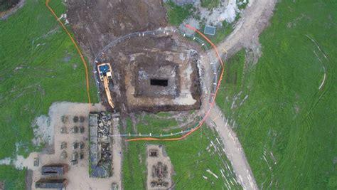 huge historic mineshaft opens  sebastopol aerial