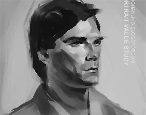 V Ling Portrait Value Study