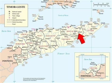 peta kota peta timor leste east timor map