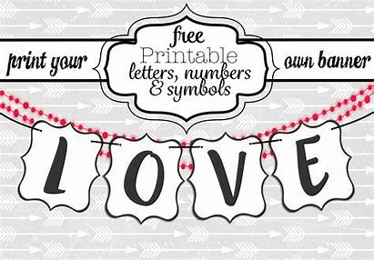 Banner Letters Printable Templates Printables Word Diy