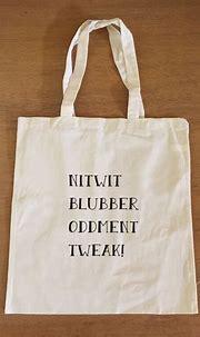 Harry Potter Tote Bag - Nitwit Blubber Oddment Tweak ...