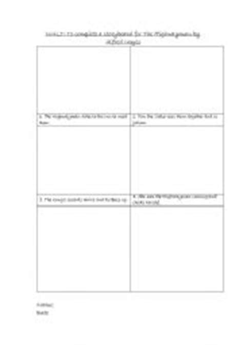 worksheets the highwayman storyboard