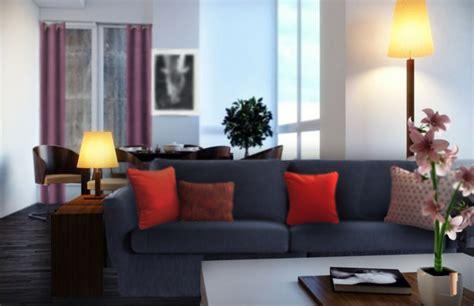 couleur canapé quels coussins pour un canapé bleu