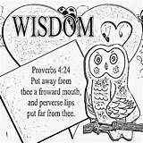 Coloring Proverbs Wise Wisdom Mouth Being Christian Poster sketch template