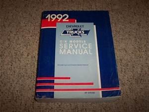1992 Chevy Suburban 1500 2500 Shop Service Repair Manual